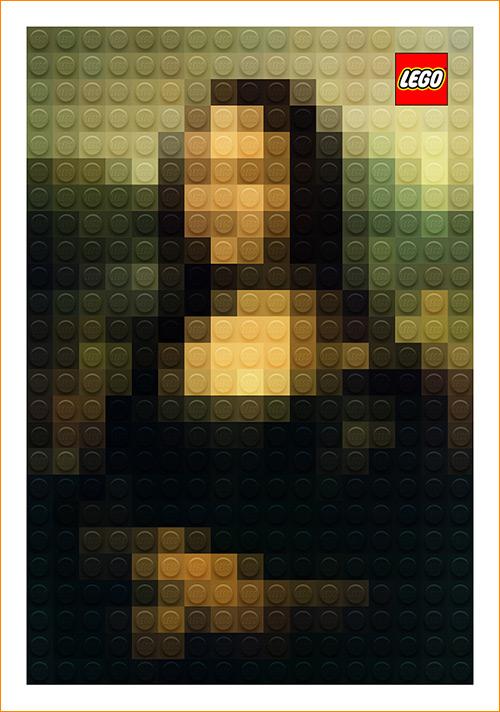 Joconde en Lego