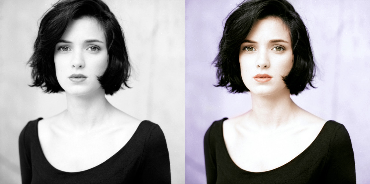 Colorisation Winona Ryder